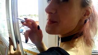 Молодая пара трахается на балконе